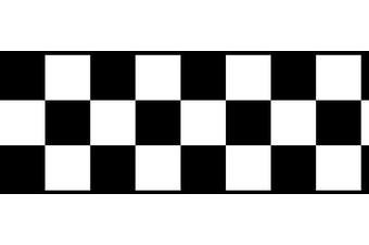 Chequered Flag Cars Nascar Wallpaper Border-11cm (black Edge), New