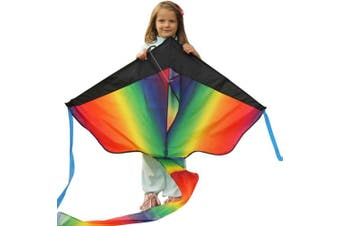(Rainbow Kite) - Huge Rainbow Kite For Kids - One Of The Toys For Outdoor Games A...