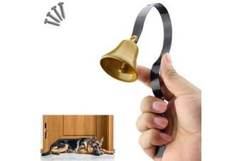 (Black) - Comsmart Tinkle Dog Bell Pet Door Bell Hanging Brass Doorbell for Potty Training Housetraining Houserbreaking