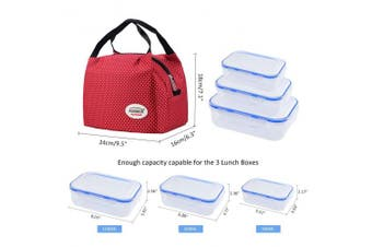 (Macloon White) - Aosbos Reusable Insulated Lunch Box Tote Bag Macloon White