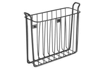 (matteblack) - Classico Wall Mount Newspaper And Magazine Rack For Bathroom Matte Black