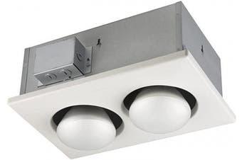 (250 Watt) - Broan-Nutone 163 Bulb Heater, Energy-Saving 2-Bulb Infrared Type IC Ceiling Heater, White, 250-Watt