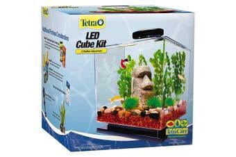 Tetra LED Cube Shaped 11.4l Aquarium with Pedestal Base