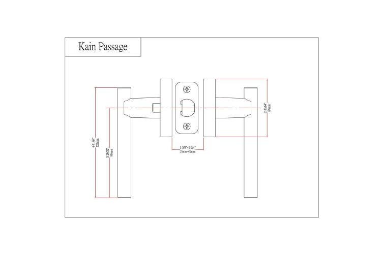 Designers Impressions Kain Design Contemporary Satin Nickel Passage Euro Door