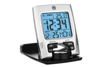 Marathon Cl030023 Travel Alarm Clock With Calendar & Temperature - Battery