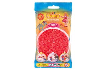 Neon Red 1000 Bead Bag