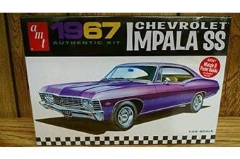 Amt Amt981/12 1/25 Scale 1967 Chevy Impala Ss (stock) Plastic Model Kit