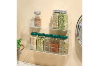 InterDesign 2-Tier Linus Wall Mount Spice Rack, Clear