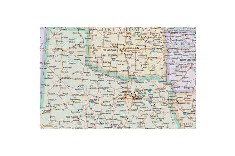 24x36 United States, Usa Us Executive Wall Map Poster Mural, New,  .