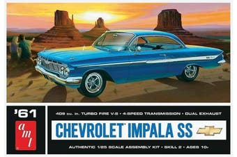 Amt Amt1013/12 1/24 & 1/25 Scale 1961 Chevy Impala Ss Car Model Kit