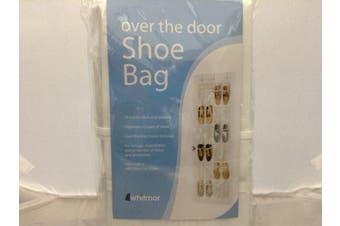 Whitmor Crystal Clear Over The Door Shoe Organiser