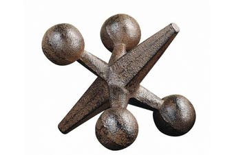 Creative Co-op Retro Decorative Cast Iron Jack, Rust