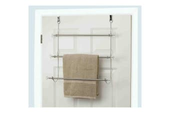 Home Basics Th41069 Over The Door Towel Holder Chr New