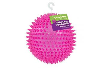 """Gnawsome 4.5"""" Spiky Squeaker Ball Dog Toy - Extra Large, Cleans Teeth and Promotes Good Dental and Gum Health for Your Pet, Colours will vary"""