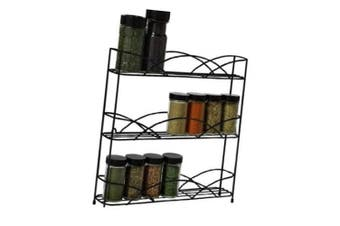 (Organizer, Black) - Spectrum Diversified Countertop 3-Tier Spice Rack, Black