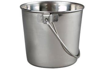 Advance Pet Products Heavy Stainless Steel Round Bucket, 0.9l