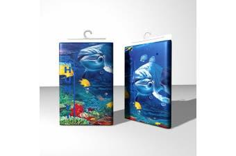 Chunyi Blue Sea World Coral Dolphin Printed Waterproof Shower Curtain