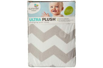 (Chevron) - Summer Ultra Plush Changing Pad Cover, Chevron