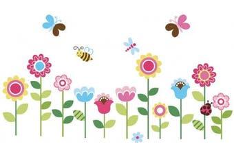 Garden Flowers Baby Nursery Peel & Stick Wall Sticker Decals New