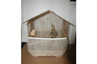 (White) - Sheer Guard Bird Cage Skirt - Large Size (white)