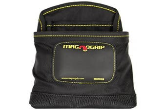 Magnogrip 002-405 3-pocket Magnetic Nail Pouch, Black, New,  .