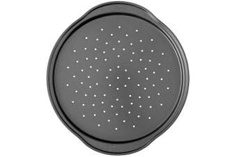(1, Silver) - Wilton Perfect Results Non-Stick Pizza Crisper Pan, 36cm Pizza Pan