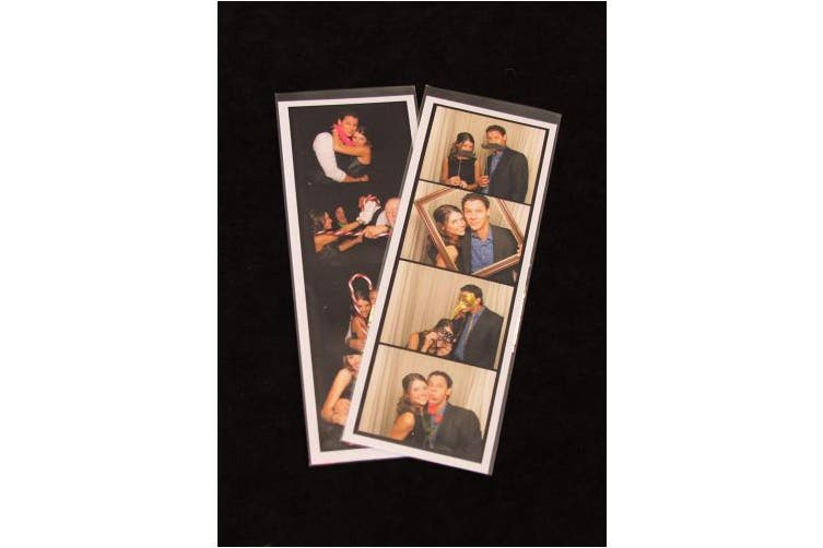 100 Photo Booth Bookmark Sleeve Strip Protectors For 5.1cm X 15cm Pictures