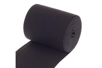 Cotowin 7.6cm Wide Black Heavy Stretch High Elasticity Knit Elastic Band 3