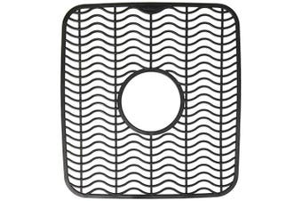 (Black Waves) - Rubbermaid Antimicrobial Sink Protector Mat, Small, Black Waves 1939406