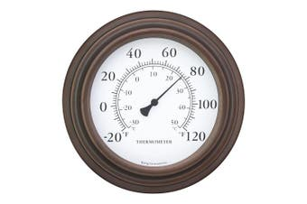 20cm Decorative Indoor / Outdoor Patio Wall Thermometer (bronze) Bronze