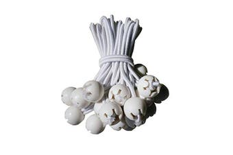 50pcs,15cm White-ball Bungees Cord Tarp Party Tent Tie Downs Bungee Canopy New