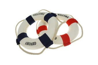 Bilipala 2pcs Welcome Cloth Decorative Life Ring, Buoy Home Wall Nautical New