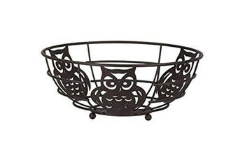 Home Basics Fb44122 Bronze Fruit Bowl Owl New