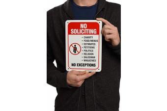 No Soliciting Sign Legend' 10 X 7 Rust Free .40 Aluminium Sign