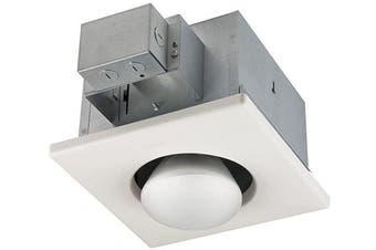 (250-Watt) - Broan-Nutone 161 Bulb Heater, Energy-Saving Single Bulb Infrared Type non-IC Ceiling Heater, White, 250-Watt