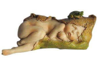 Top Collection Enchanted Story Fairy Garden Sleeping Fairy Baby With Little Frog