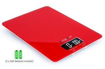 Weighmax Gr25 Tempered Glass Digital Mailing And Food Kitchen Scale, 25lbs/11kg,