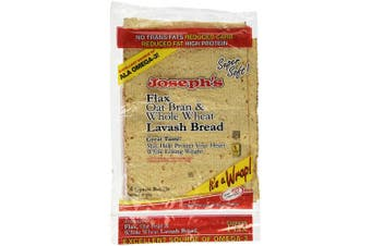 Josephs Lavash Bread Flax Oat Bran & Whole Wheat Reduced Carb - 4 Square Breads