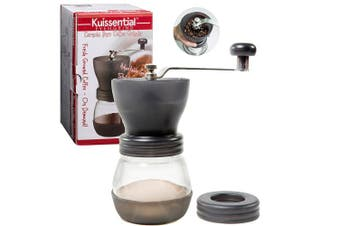 Manual Coffee Burr Grinder- The Original EvenGrind w/ Patented Stability Cage- Even Coffee Grounds Guaranteed!