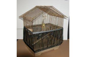 (Black) - Sheer Guard Bird Cage Skirt - Large Size Black