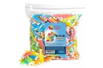 Nik-l-nip Wax Bottles Candy Drinks, 1.4kg Bulk Candy New