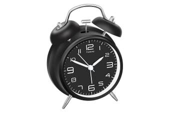 Peakeep 4 Twin Bell Alarm Clock With Stereoscopic Dial, Backlight, Battery Loud