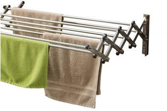 Aero-w Vp8 - Stainless Steel Folding Clothes Rack 27kg Capacity 22.5 Linear Ft