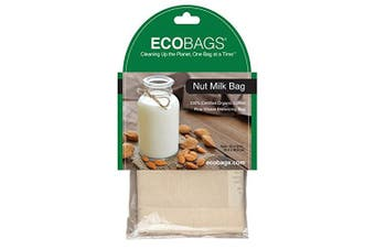 Frontier Natural 229654 Nut Milk Straining Bag With Drawstring & Organic Cotton