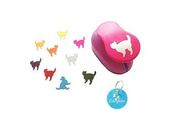 Caryko 2.5cm Clever Lever Craft Punch - Paper Cutting Shape (Cat)