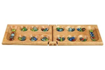 Melissa Wood Folding Mancala Board Game - 44cm Set