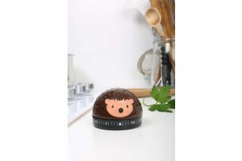 (Hedgehog) - Kikkerland Hedgehog 60-Minute Kitchen Timer, Brown