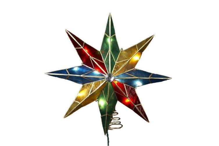 Kurt Adler 8 Point 35.6cm Star with Centre Gem Tree Topper UL3077