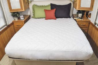 Ab Lifestyles Camper King 72x80 Usa Made Mattress Pad, Quilted Mattress Cover Fo