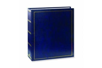 (Navy Blue) - Pioneer Photo Albums Magnetic Self-Stick 3-Ring Photo Album 100 Pages (50 Sheets), Navy Blue